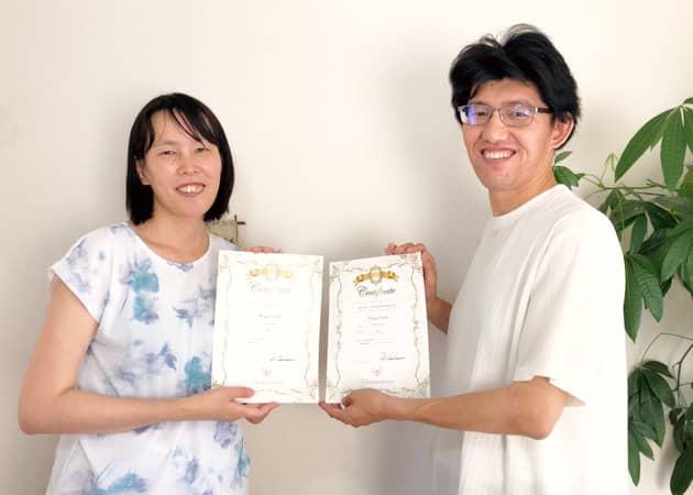 ディプロマ(認定書)が授与された受講生